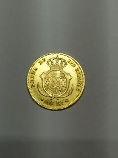 40 реалов 1862 года Испания, золото 3.25 г.