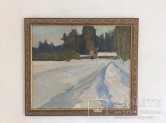 Матвей Коган-Шац. Зима. 47 х 55 см. 60-е годы