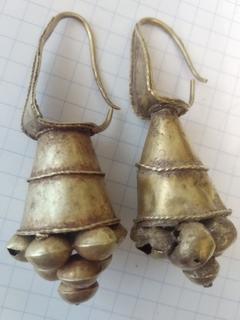 Античные золотые серьги