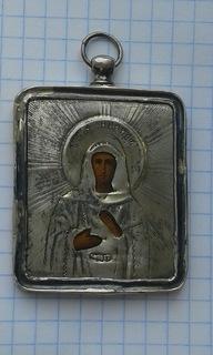 Святая Мученица Зинаида в серебряном окладе