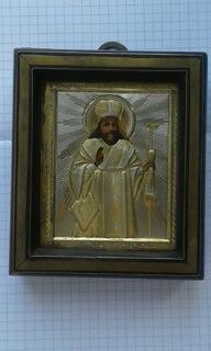 Святой Феодосий Черниговский в серебряном окладе