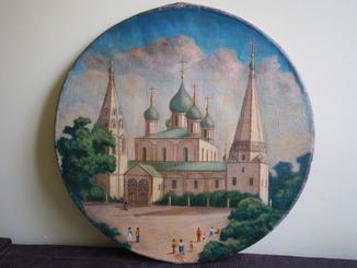 Собор м.Ярославль 1970 холст , масло