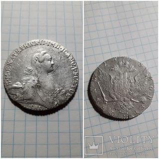 Рубль  БМ Екатерина 2 спб 1769г