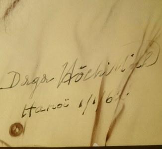 Автограф Хо Ши Мина с документом