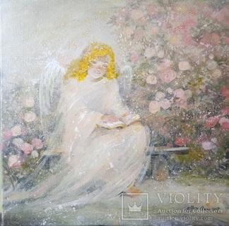 Картина «Ангел с книгой». Художник Ellen ORRO. холст/акрил. 40х40, 2017 г.