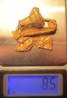 Фрагменты Хазарских колтов, золото - 8,5 грамм
