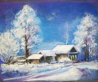 Зимушка зима, пастель