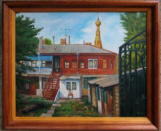 Одесский дворик 50х60см.