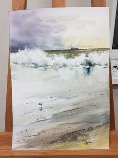 Море, подпись автора