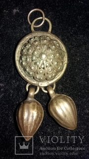 Серебряная средневековая подвеска