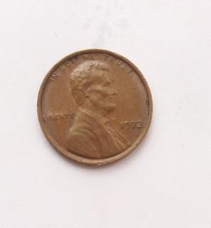 1 цент 1972 года без отметки монетного двора