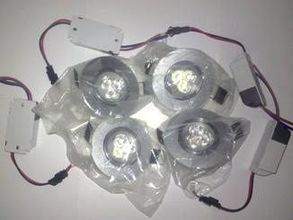 Новые поворотные потолочные светильники 3w 4 шт