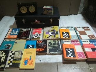 Комплект Шахматиста Периода СССР (Шахматные часы Jantar  + Чемодан + Книги)