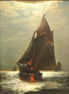 "Джеймс Тайлер, ""Шхуна в ночи"" (James Tyler. Schooner at Night)"