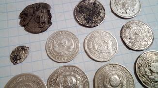 Лот серебряных монет.