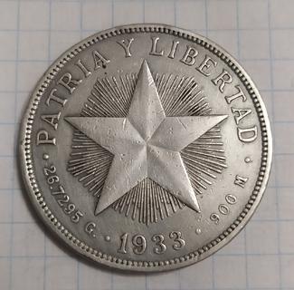 1 Песо. Куба 1933 год.