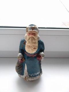 Дед Мороз папье- маше 14 см. 50-е