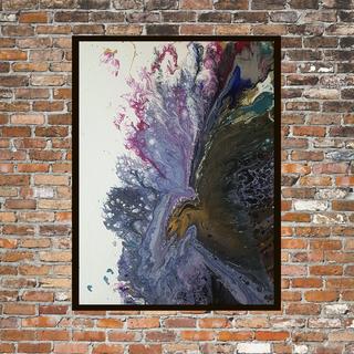 Интерьерная картина в современной технике Fluid art р 50*70 см