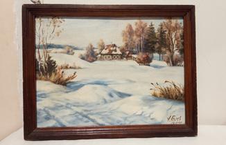 "Картина в раме ""Зимнее утро"""