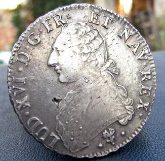 Екю 1784 р. Людовик 16