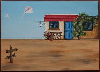 Картина акрил Лавка желаний 50Х70 см