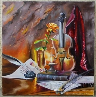 Скрипка, що грає вічність. 68х74см. Березин С.