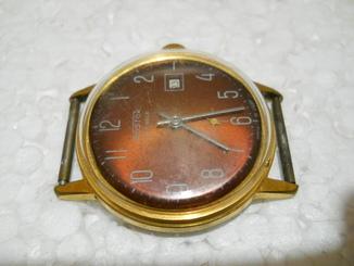 Часы позолоченные наручные мужские Восток СССР, Au 10-  нерабочие