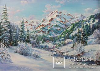 Серебрянные горы Коротков С В холст. масло 50х70