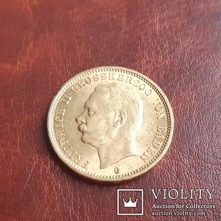 Золото 20 марок 1911 г. Баден