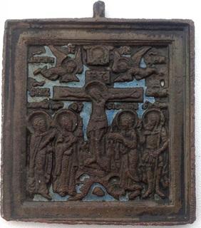 Икона Распятие Христово, 19век, эмаль
