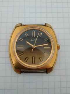 Часы Заря. Позолота Ау10