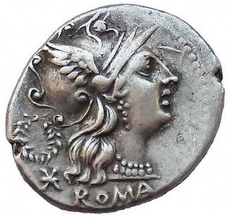 Республиканский денарий C. Servilius 136 г. до н.э.