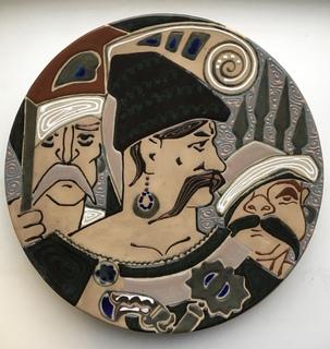 Тарелка «Запорозькі козаки» 35 см