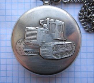 Часы карманные Молния / трактор, на ходу