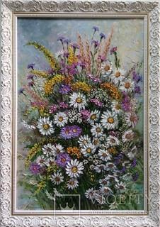Картина натюрморт Летний букет Короткова Т.Г. 40х60см холст, масло