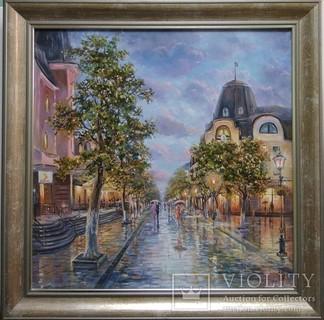 Картина Міський пейзаж Луцьк автор Коротков С В холст масло 50х50см