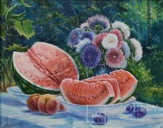 Картина натюрморт Наслаждение 40х50см холст,масло автор Коротков С.В.
