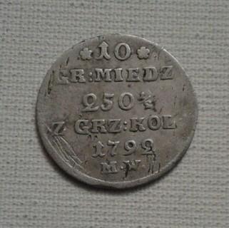 1792 г. 10 грошей