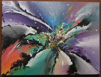 Картина акрил Лилия 45Х60 см
