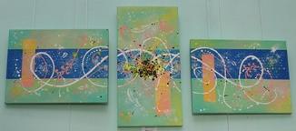 Картина модульная триптих акрил Ветер, 30Х40см, 50Х25см, 30Х40см