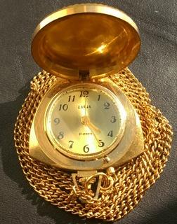Часы ZARJA (Au 5) с цепочкой,коробкой и паспортом