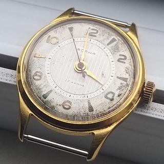 Часы Волна 22 камня. позолота Au ( на ножке)