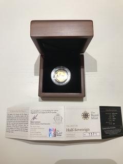 Золото Пруф 2012 Британский полсоверен в футл.