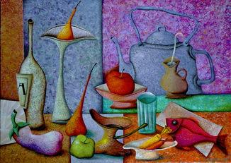 """Андрей Лозовой """"Натюрморт со старинным чайником"""", 60х80, холст, масло, 2019"""
