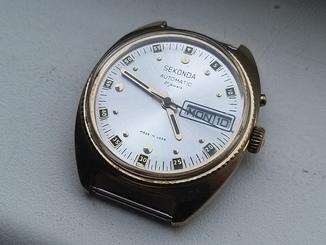 Часы Sekonda automatic (Слава).позолота Au