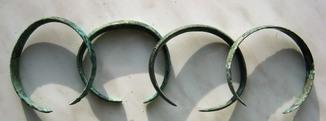 Четыре парных браслета с узором. Кобанская культура(12-8вв до н.э.).