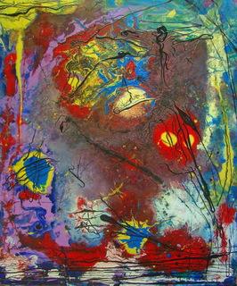 """Андрей Лозовой """"Песни сумеречных муравьёв 2"""", 60x80, холст, масло, акрил, 2019"""