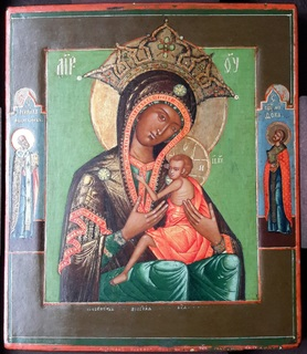 Богородица Овсепетая, подписная, датированная