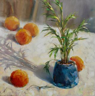 Апельсины на столе 35х35