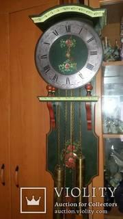 Старинные настенные  механические часы FHS Germany.